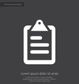 list premium icon white on dark background vector image