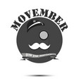 logo poster banner movember vector image