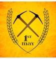 May 1st Labor Day Crossed pickaxes symbol of vector image vector image