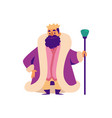 middle ages king fairy tale character in crown vector image vector image
