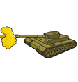 military tank vector image vector image