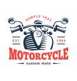 motorcycle logo vintage emblem vector image