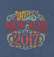 New Year 2017 logotype vector image vector image
