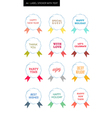 New year Tag Label sticker with ribbon vector image