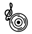 note musical vinyl on white background vector image