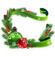 Red and green Christmas balls vector image vector image