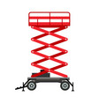 red lift stand icon flat style vector image vector image