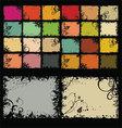 retro color background set vector image vector image