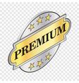 round label premium isometric icon vector image vector image