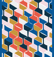 Seamless pattern with hexagonal woven shapes
