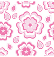 seamless pattern with pink flowers sakura vector image