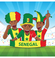 senegal football support vector image vector image