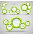 set green circle banners vector image vector image