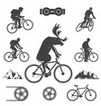 set of cycling mountain bike icons vector image vector image