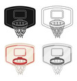 shield with basketbasketball single icon in vector image vector image