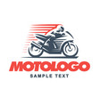 sport motorcycle on white background vector image