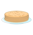 Stack of pancakes icon cartoon style vector image vector image