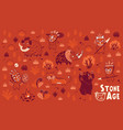 stone age set vector image vector image