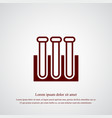 test tube icon simple vector image vector image