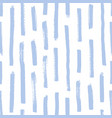 trendy seamless pattern with rough blue brush vector image vector image