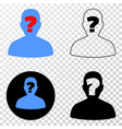 unknown person eps icon with contour vector image