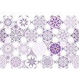 violet purple seamless ceramic tile with vector image vector image