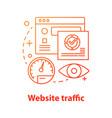 website traffic concept icon vector image vector image