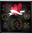 Wedding graphic set on chalkboard