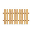 wooden fence with nails vector image