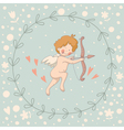 Wreath Cupid vector image vector image