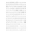 150 Thin Line Icons vector image