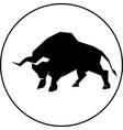 bull silhouette vector image