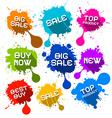 Blots Splashes Sale Icons vector image