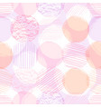 abstract geometric seamless pattern with circles vector image vector image