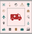 ambulance symbol icon elements for your design vector image vector image