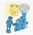 artificial intelligence cartoon vector image vector image