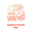 audience growth rate concept icon vector image vector image