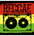 Audiocassette and Reggae lettering reggae design
