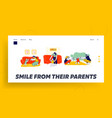 bafirst step landing page template mother and vector image vector image