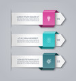 business infographic arrow template with 3 options vector image vector image