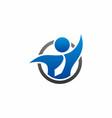 business man logo vector image