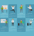 businessman successful man posters with text set vector image