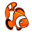 cartoon clownfish vector image vector image