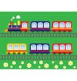 childrens locomotive vector image