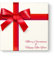 Christmas box top view vector image vector image