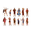 collection aboriginal or indigenous people of vector image