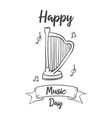 collection music day style hand draw vector image vector image