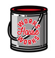 color vintage house works emblem vector image vector image