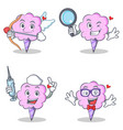 cotton candy character set with cupid detective vector image vector image