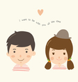 couple boy girl vector image vector image
